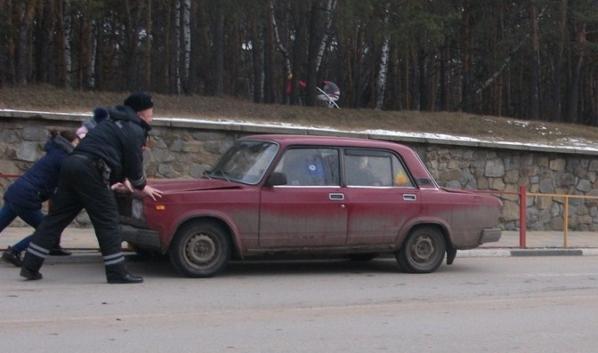 У ВАЗ-2107 отказали тормоза.
