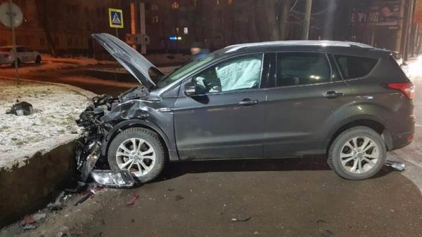 Авария на Московском проспекте в Воронеже.