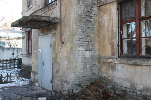 Аварийный дом №21 на улице Питомник.
