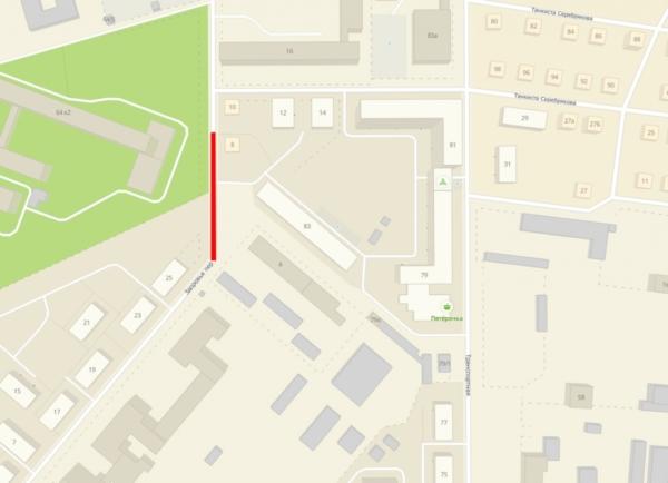 Движение по участку улицы будет закрыто (кликните для увеличения, откроется в новой вкладке).
