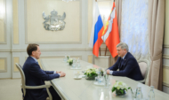 Александр Гусев поздравил Алексея Гордеева.