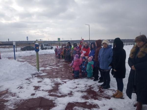Учебная эвакуация в детсаду в Новой Усмани.