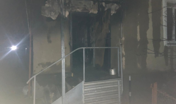 Дом сгорел.