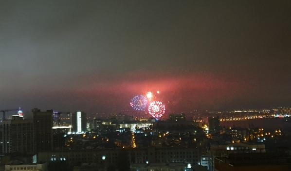 Салют в Воронеже на 23 февраля.