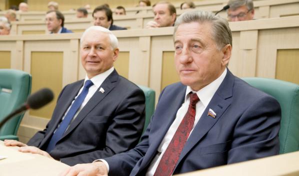 Сергей Лукин на внеочередном заседании Совета Федерации.