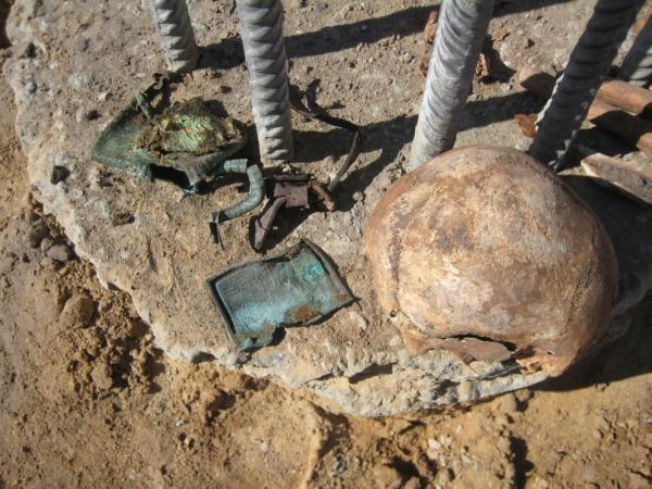 Останки нашли при сооружении котлована.