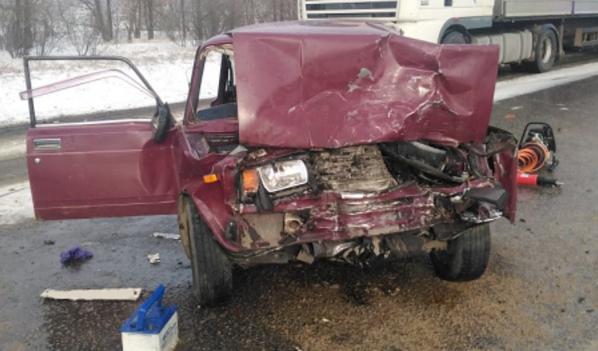 Фото с места аварии в Павловском районе.