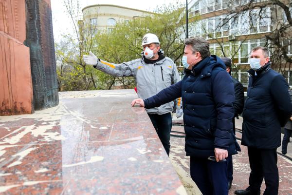 Реконструкция площади Победы в Воронеже.