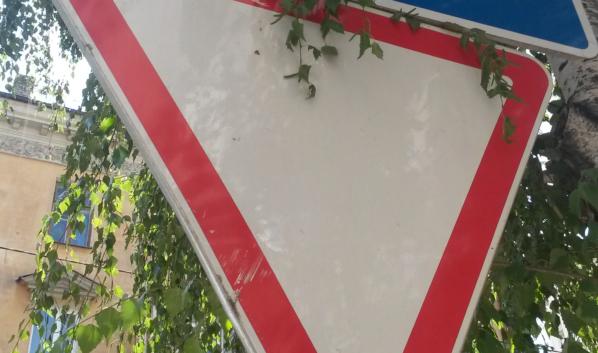 Знак уступи дорогу.