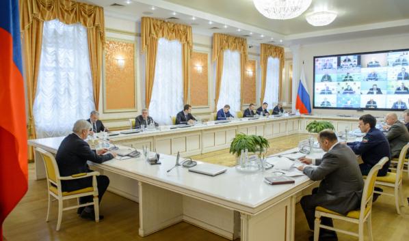 Заседание оперативного штаба по противодействию коронавирусу на территории Воронежской области.