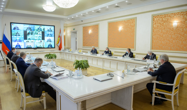 Заседание областного оперштаба по противодействию коронавирусу.