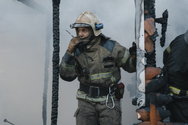 Пожар в рыбацком поселке Радчино.