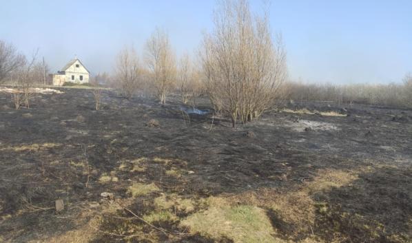 После пожара.