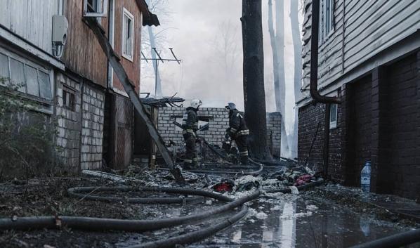 После пожара в Радчино.