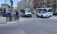На улицы выехало больше автобусов и маршруток.