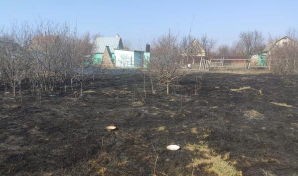Последствия пожара в СНТ «Салют».