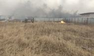 Огонь угрожал трем садовым товариществам.