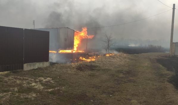 Пожар в Новоусманском районе.