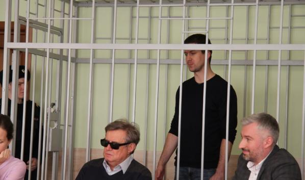 Алексей Антиликаторов на суде.