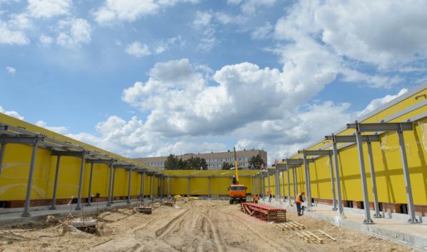 Строительство инфекционной больницы на улице Ростовской.