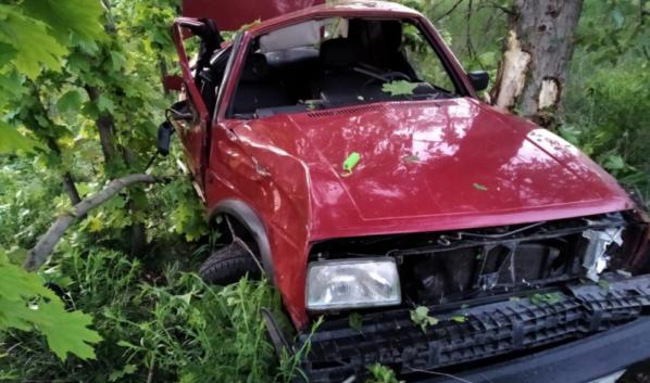 Автомобиль после ДТП в Кантемировском районе.