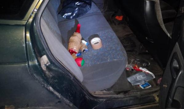 Наркотики в машине.