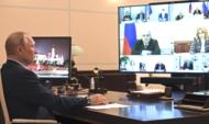 На совещании по вопросу о санитарно-эпидемиологической обстановке в РФ.