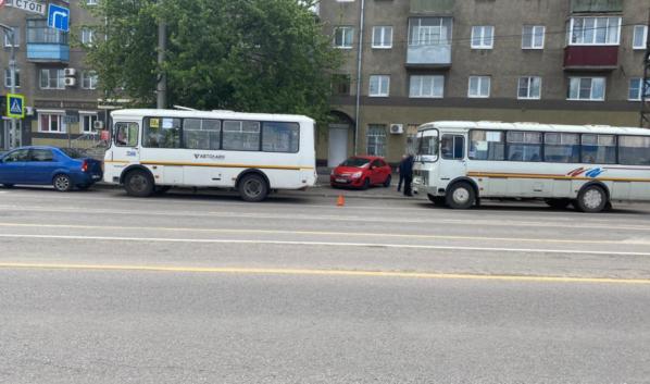 ДТП с двумя маршрутками в Воронеже.