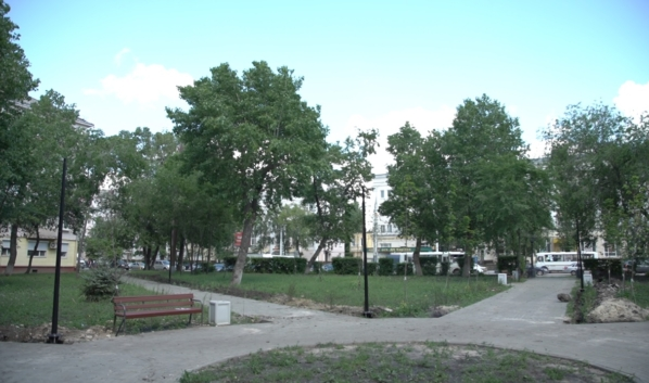 Реконструкция сквера имени Василия Шукшина.