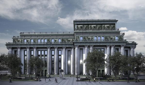 Вариант архитектурной концепции Театра оперы и балета.