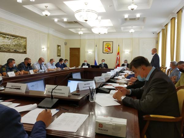 Заседание в мэрии Воронежа.