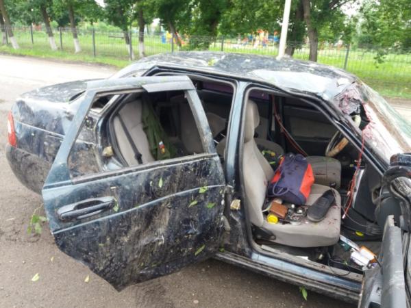 «Лада» после аварии.