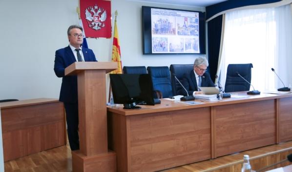 Отчет мэра Воронежа перед депутатами городской Думы.