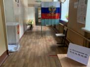 На участке для голосования в Воронеже.