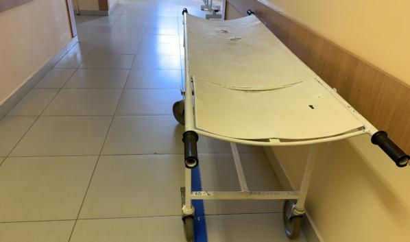 В больнице.