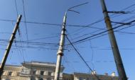 Опоры воздушных линий электропередач.