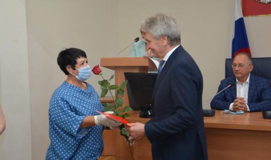Воронежских строителей поздравили с наступающим праздником.