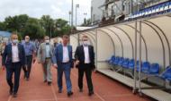 Вадим Кстенин на инспекционном выезде по объектам спортивной инфраструктуры.