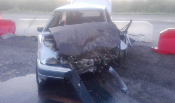 Авто после аварии в Павловском районе.