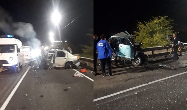 В авто погибли четыре человека.
