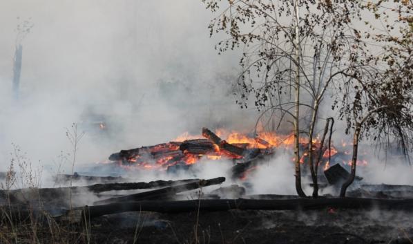 Пожар в поселке Медовка.