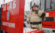Пожар в Воронежской области.