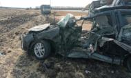 В машине погибли три человека.