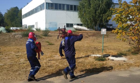 Тренировка на водоподъемной станции.