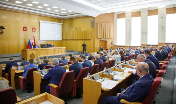 Заседание Воронежской областной Думы.