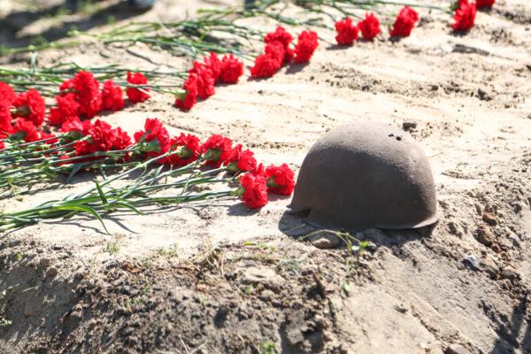 В Воронеже в день 75-летия окончания Второй мировой войны перезахоронили останки 45 красноармейцев.