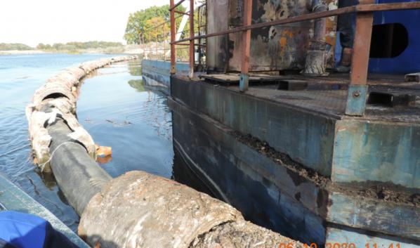 Разлив нефтепродуктов на реках в Рамонском районе.