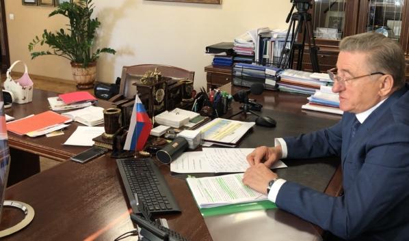 Сергей Лукин на приеме в онлайн-формате.