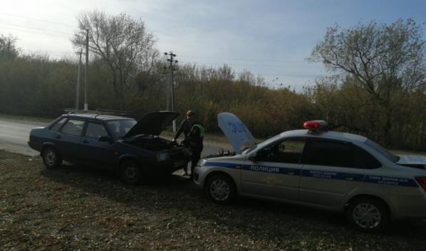 Стражи порядка помогли автомобилистке.