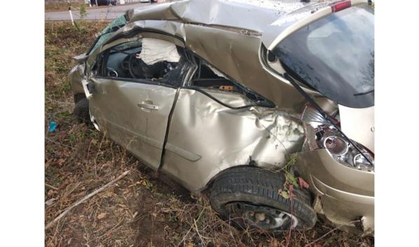 Вот что осталось от Opel Corsa.